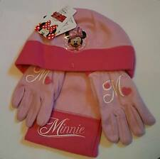 Kids Childrens Girls Hat Gloves Scarf Set Disney Minnie Mouse Peppa Pig Gift NEW