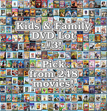 Kids & Family DVD Lot #3: 248 Movies to Pick From! Buy Multiple And Save!