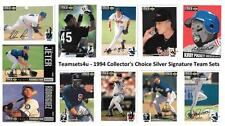 1994 Collector's Choice Silver Signature Baseball Sets ** Pick Your Team Set **