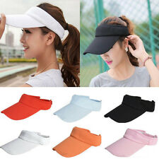 Unisex Adjustable Plain Visor Outdoor Sun Cap Sport Golf Tennis Beach Hats New s