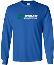 DINAR Airlines Retro Logo Argentine Airline Long-Sleeve T-Shirt