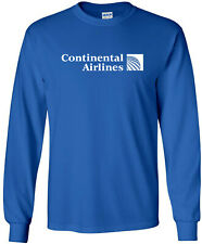Continental Airlines Retro Logo US Airline Long-Sleeve T-Shirt