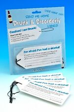 Stag Bachelor Party Labels Drunk and Disorderly   FUN PRANK LADS NOVELTY TAGS