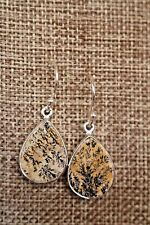 Leaf Jasper Earrings With Beautiful Design On Wire - Variations Available