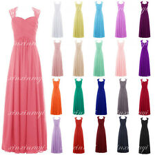 New Straps Chiffon Bridesmaid Prom Dresses Formal Evening Party Gown Stock 6-22