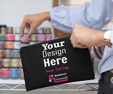 Design your own Custom Personalied Make Up / Cosmetics Bag - 5 Colours Options