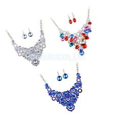 Bridal Wedding Party Jewelry Set Crystal Beads Diamante Necklace Earrings Set