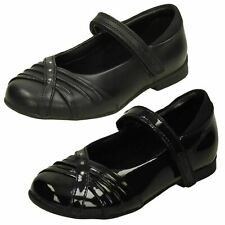 Girls DOLLY SHY INF Black Patent Riptape Strap Shoe By Clarks £19.99