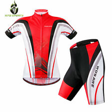 Men Bicycle Bike Cycling Short Sleeve Jersey Padded Sets Outdoor Sports Shorts