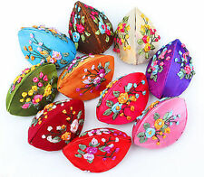 Chinese Classic Flowers Embroidered Silk Jewelry Boxes Gift Change Dumpling bag