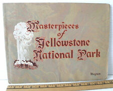 Vintage early YELLOWSTONE NATIONAL PARK Large Souvenir HAYNES  PHOTO BOOKLET