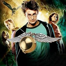 Harry Potter Golden Snitch Necklace With Angel Wings Gold Silver