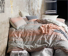 NEW Connor quilt cover set by Kas - grey blush pink cotton bedding bed linen