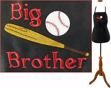 Big Brother Baseball & Bat Apron Youth or Adult Size + Name Custom Embroidered