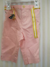 NWT RALPH LAUREN POLO Baby Girls Pink pants w/belt size 9 month 12month