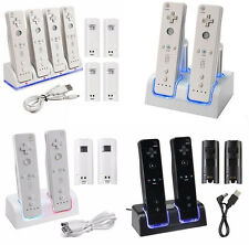 Charger Dock Cradle Station + Rechargeable Battery For wii Remote Controller USA