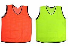 12 Mesh Scrimmage Practice Jerseys for Youth Adult Sports Training Vests Pinnies