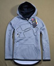 NWT BOYS YOUTH UNDER ARMOUR BLACK GRAY PULLOVER HOODIE JACKET COAT YSZ S M