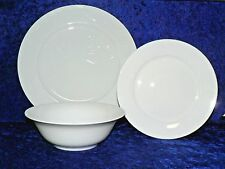 White fine bone china dinner plate side plate or cereal bowl