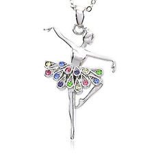 Fashion Women Heart Crystal Charm Pendant Chain Necklace Gold and silver Jewelry