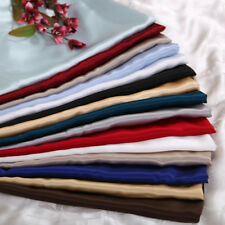 HOTEL QUALITY SATIN POLYESTER SILK QUEEN 4PC SHEET SET (FLAT+FITTED+PILLOWS)