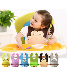 Lovely Baby Infant Kids Soft Silicone Bibs Toddlers Lunch Feeding Bib Waterproof