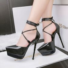 New Platform Crossing Strappy Ultra High Heels Stiletto Club Party Ladies Shoes