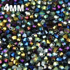 JHNBY 4mm 100pcs Bicone Austrian crystals loose beads ball supply surface color