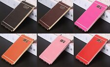 Samsung Galaxy Leather Skin Plating Soft TPU Back Silicone Cover Many Variations