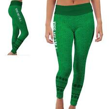 North Texas Mean Green Womens Yoga Pants Shamrock  Design