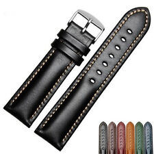 18 20 22mm Wholesale New VINTAGE Real Calf Leather Wrsit Watch Band Strap Belt