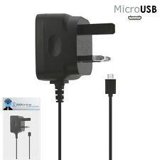 3 Pin 1000 mAh UK MicroUSB Mains Charger for BlackBerry 9800 9810 Torch