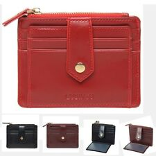 Haimi-hk Womens PU Leahter Wallet Slim Credit Card Holder Case Zipper Purse Bags