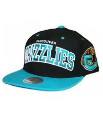 Mitchell and Ness VANCOUVER GRIZZLIES Snapback Hat Black / Turquoise