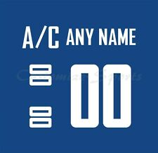 Vancouver Canucks Home Jersey Customized Number Kit un-sewn