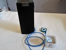 Apple iPod Shuffle 4th Generation 2GB Blue Earbuds Xtreme Mac Speaker Bundle