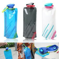 Newest 700mL Outdoor Foldable Reusable Sport Water Bottle Bag BPA-Free Bicycle