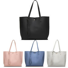 Women Girls Tassels Leather Bag Shopping Handbag Shoulder Tote Bag Portable Bags