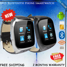 New X01S 3G Wifi Android 5.1 Dual Core 8GB Smart Watch Heart Rate GPS SIM Phone