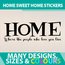 Wall Stickers Quotes Decal Vinyl Sign Room Home - Where the People You Love Live