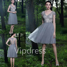 Elegant Violet Mother Of The Bride Dresses Formal Party Prom Keen Length Gowns