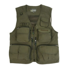 Fly Fishing Vest Multi-pocket Outdoor Sports Hunting Photography Vest Green