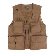 Fly Fishing Vest Multi-pocket Outdoor Sports Hunting Photography Vest Khaki