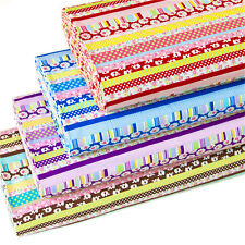 Japanese Kokka Cotton Fabric Quilting Cloth Strip Flower By 1/2 yard