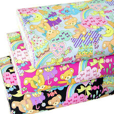 Japanese Cotton Fabric Quilting Cloth Candy Bear By 1/2 yard