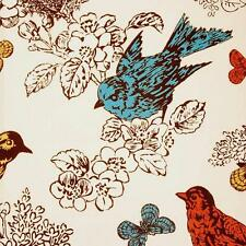 Duralee 20965-215 | Perch | Multi | Cotton-Linen Floral and Birds Drapery Fabric