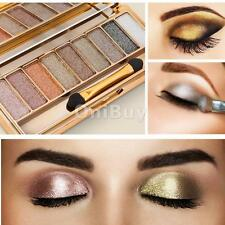 Popular 9 Color Eye Shadow Makeup Cosmetic Shimmer Eyeshadow Palette w/ Brush