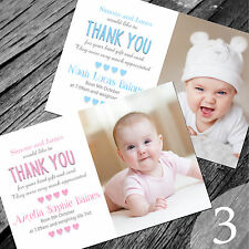 Personalised New Baby Thank You Cards / Announcement (NB3)