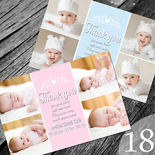 Personalised New Baby Thank You Cards / Announcement (NB18)