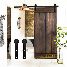 2.5-16FT Single Interior Sliding Barn Wood Door Hardware Closet Track Kit ,New